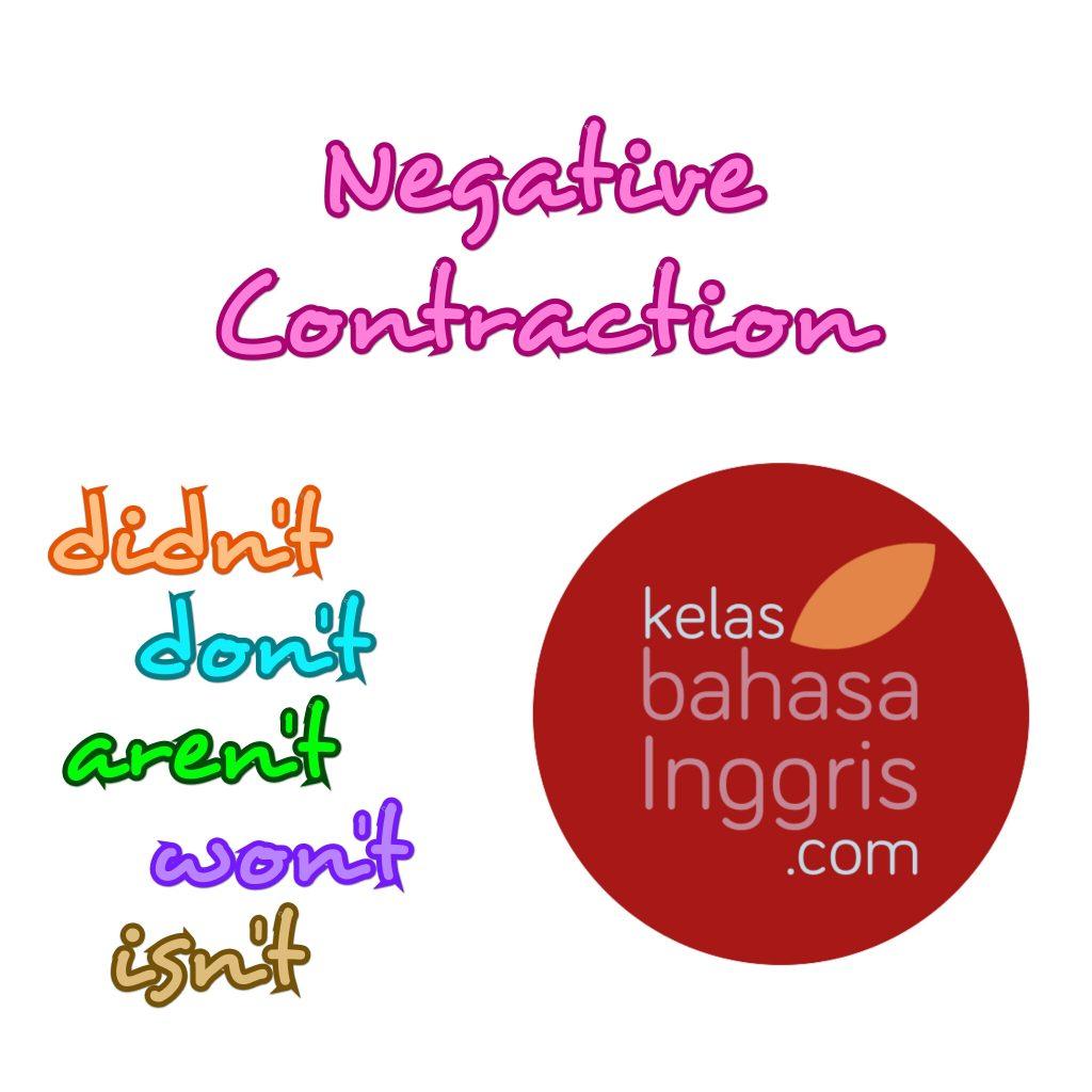 Negative Contraction dalam Bahasa Inggris