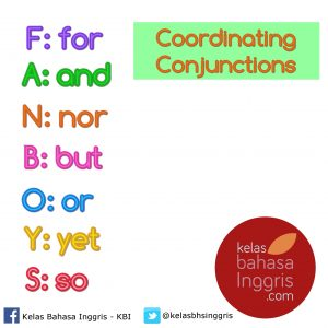 Penjelasan Lengkap Coordinating Conjunctions Coordinate conjunctions