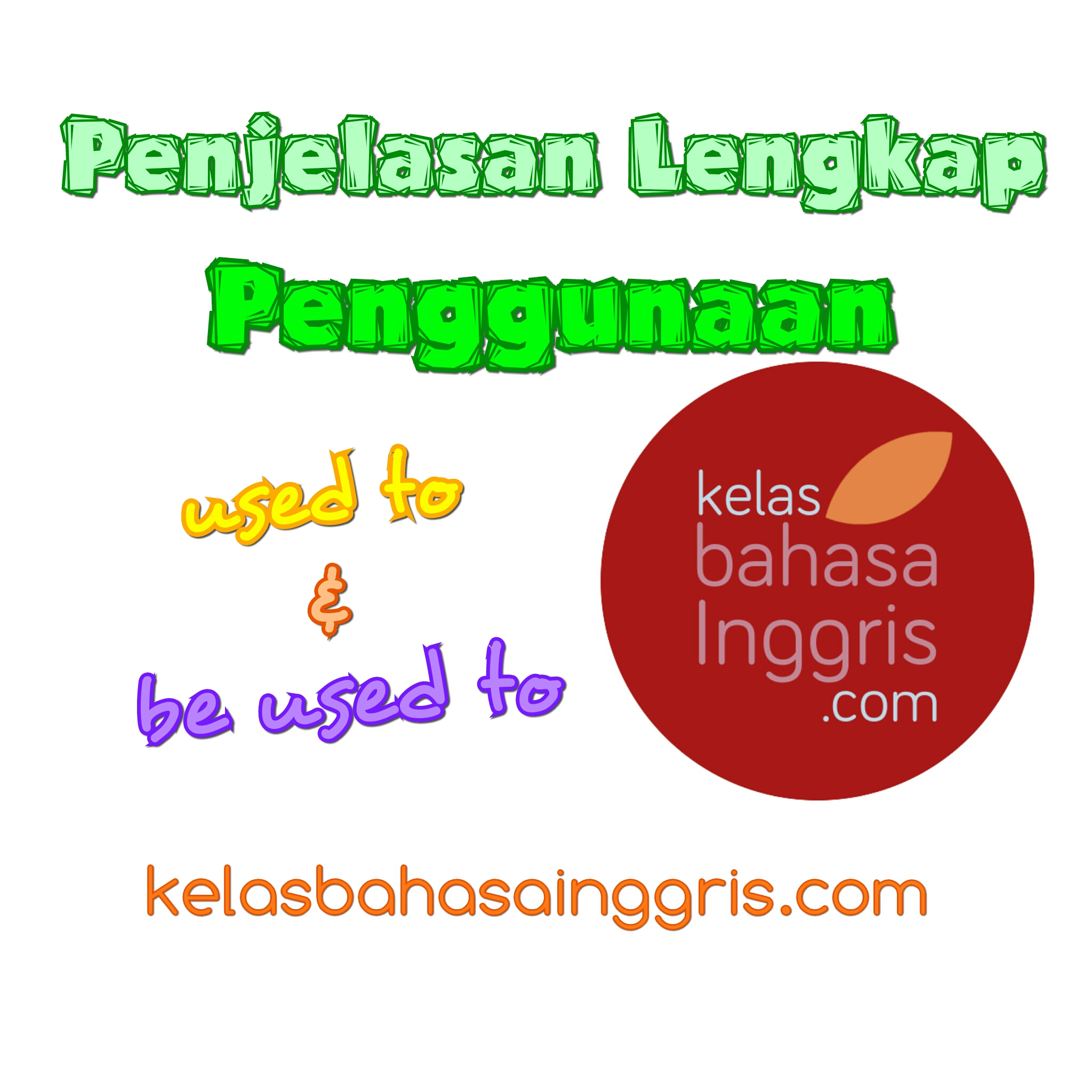 Penjelasan Lengkap used to dan be used to