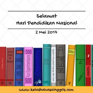 Selamat Hari Pendidikan Nasional 2017