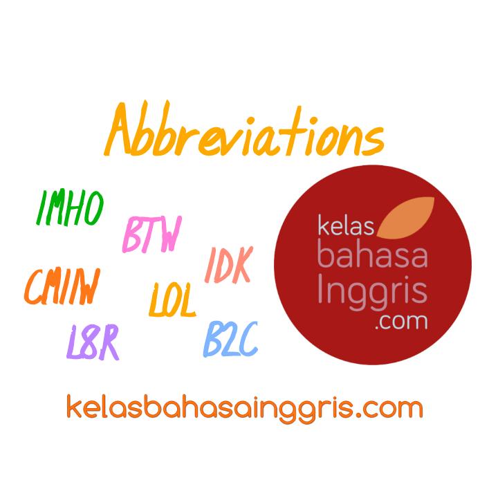Singkatan Umum Bahasa Inggris dalam Online Chat dan SMS