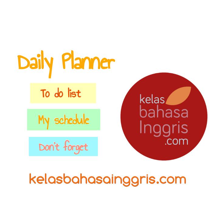 Manfaat dan contoh membuat daily planner atau to do list